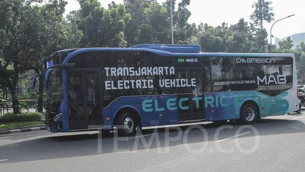 Jakarta wants 10,000 electric buses by 2030 hinh anh 1