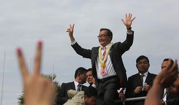 Cambodia: Sam Rainsy sentenced to four years in jail hinh anh 1