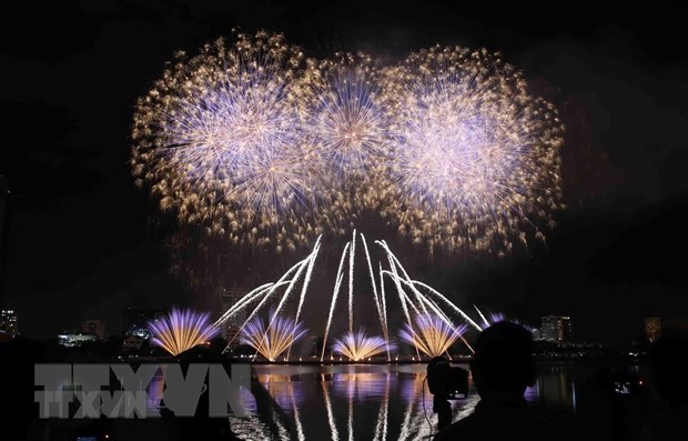 Da Nang: three venues approved for fireworks show on Lunar New Year Eve hinh anh 1