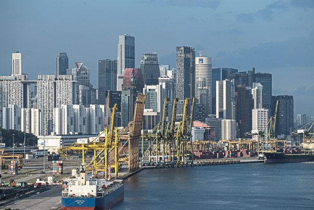 Singapore economy shrinks by 5.8 pct last year hinh anh 1