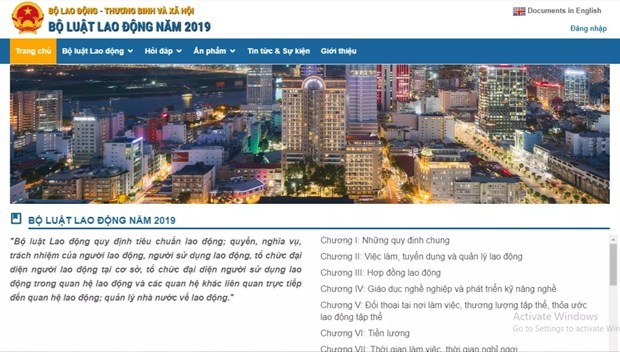 Ministry launches website on 2019 Labour Code hinh anh 1