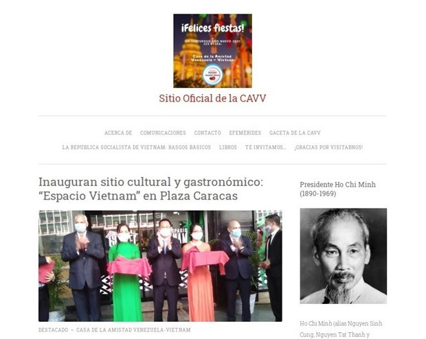 Venezuela – Vietnam Friendship Association's e-portal makes debut hinh anh 1