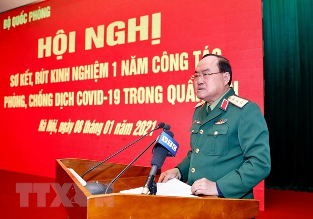 Fight against COVID-19 in army reviewed hinh anh 1
