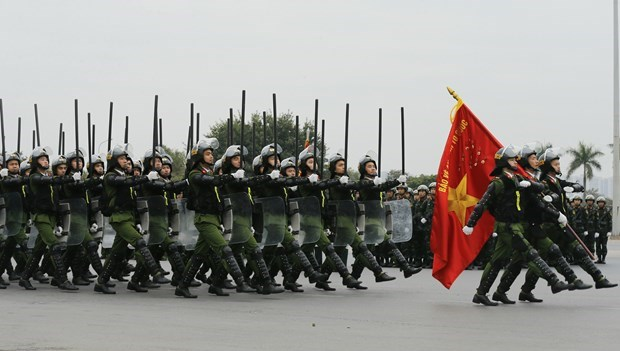 Forces ready to ensure safety for 13th National Party Congress hinh anh 3