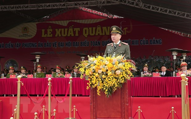 Forces ready to ensure safety for 13th National Party Congress hinh anh 2
