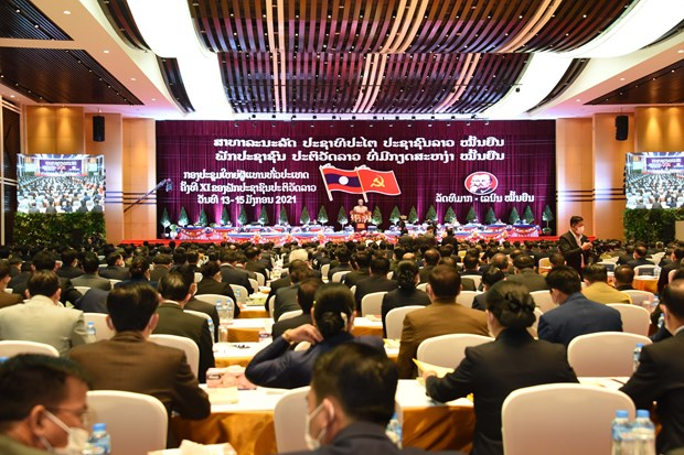 Lao People's Revolutionary Party convenes 11th national congress hinh anh 1