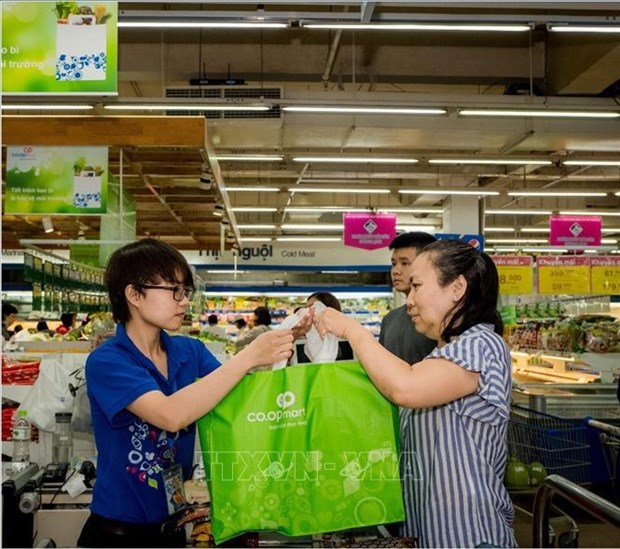 Hanoi aims to create supermarket coalition to reduce single-use plastic bags hinh anh 1