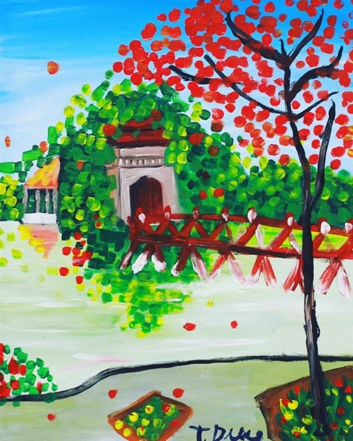 Exhibition features paintings by people with autism hinh anh 1