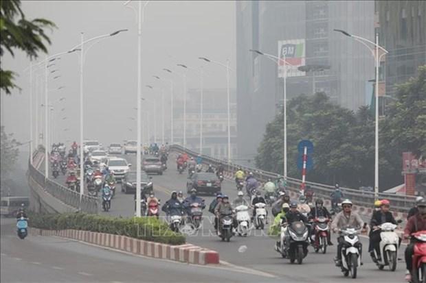 Air pollution engulfs Hanoi city hinh anh 1