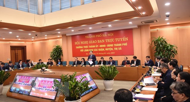 Hanoi launches socio-economic development tasks for 2021 hinh anh 1