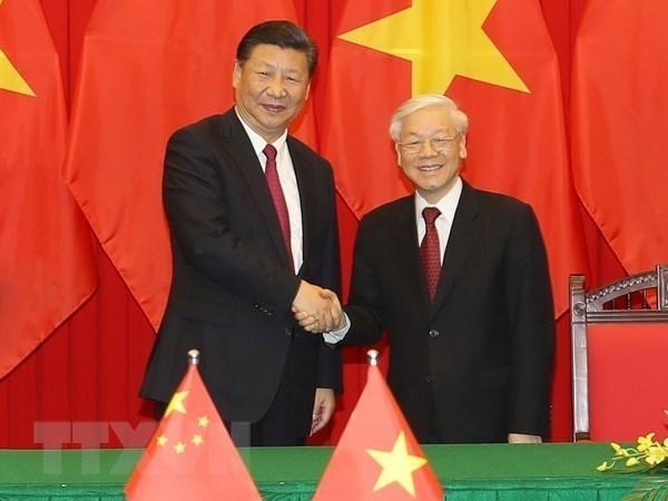 Greetings on Vietnam - China diplomatic ties anniversary hinh anh 1
