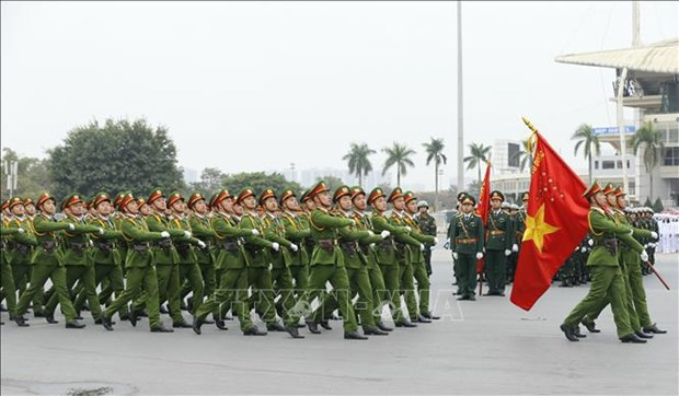 """Public security force enters """"new ready"""" status to ensure safety for 13th National Party Congress hinh anh 1"""