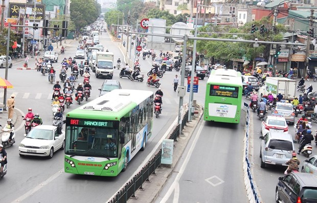 HCM City accelerating work on bus rapid transit route hinh anh 1