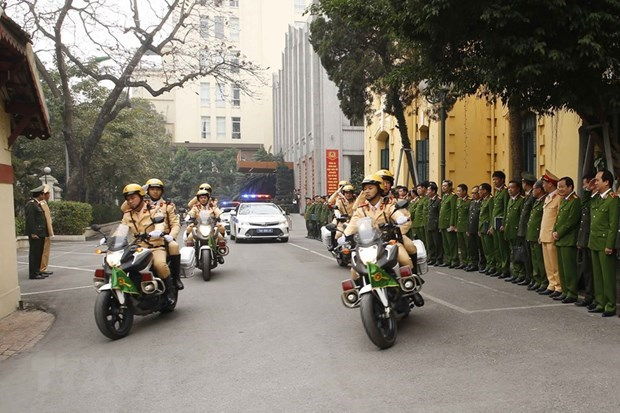 Hanoi's police begin task of ensuring security for National Party Congress hinh anh 1