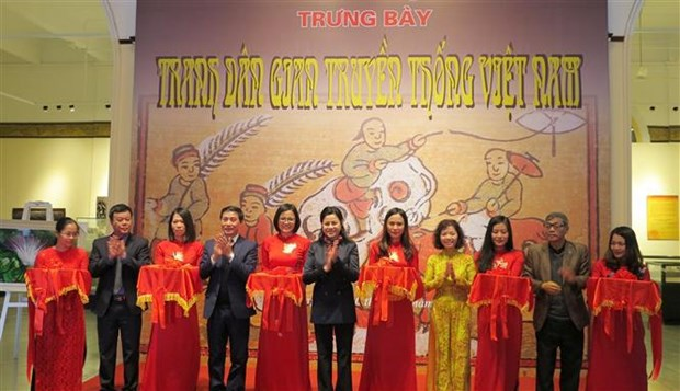 Folk paintings displayed in Hai Phong hinh anh 1