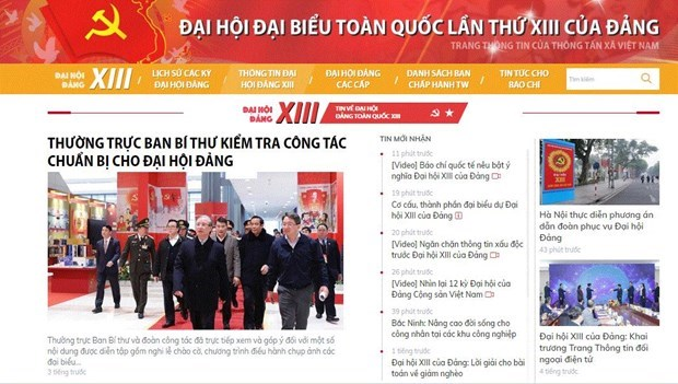 Vietnam News Agency helping spread official news on 13th National Party Congress hinh anh 1