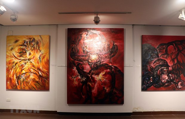 Paintings feature the buffalo – zodiac sign for 2021 hinh anh 1