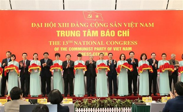 13th National Party Congress press centre opens hinh anh 1