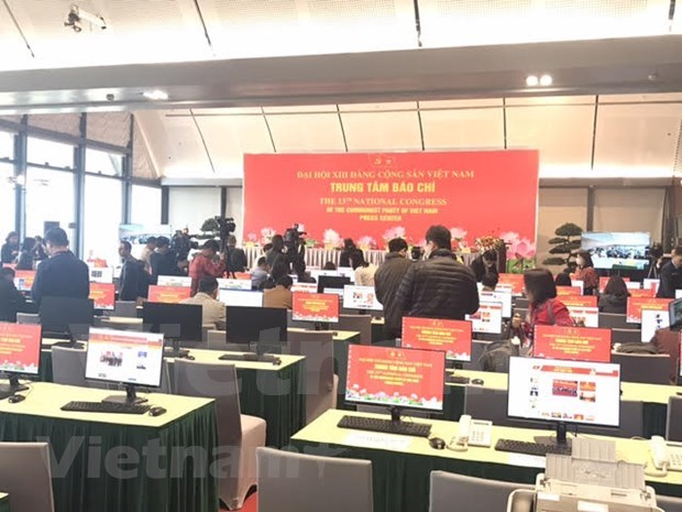 More than 200 media outlets to cover 13th National Party Congress at the scene hinh anh 1