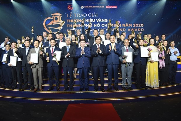 Thirty businesses win HCM City Golden Brand Award hinh anh 1