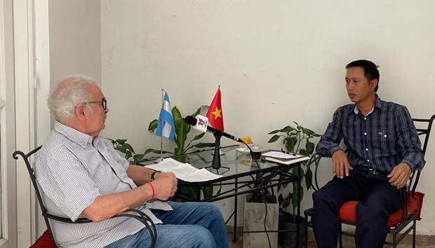 Argentinian party chief praises Vietnamese Communist Party's decisive role hinh anh 1