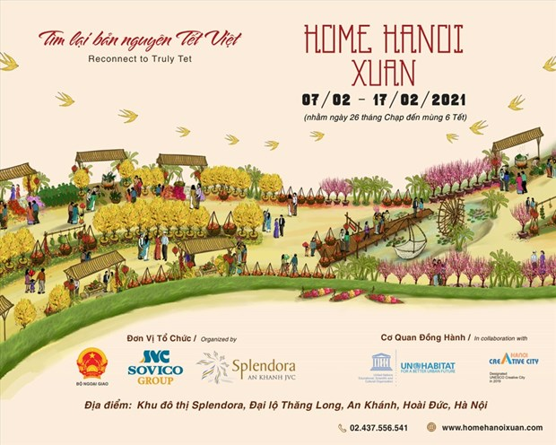 First Hanoi flower street to debut in February for Tet celebrations hinh anh 1