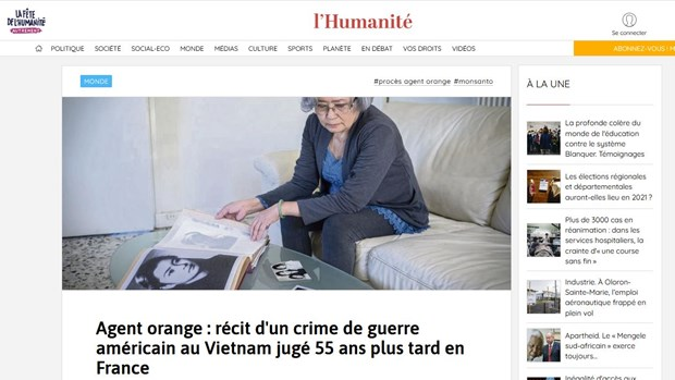 """French media highlight """"historic trial"""" of lawsuit against US AO/Dioxin producers hinh anh 1"""
