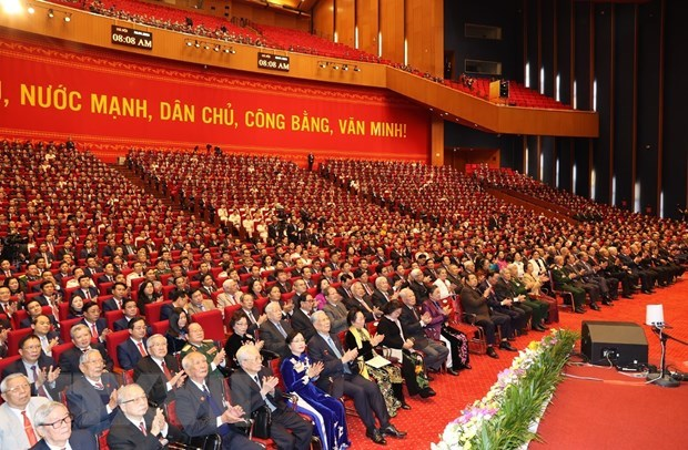 Press release on opening session of 13th National Party Congress hinh anh 1