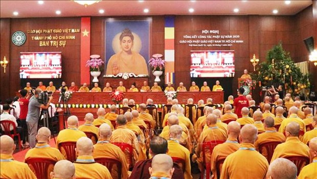 HCM City's Buddhist unit hailed for active engagement in COVID-19 response hinh anh 1