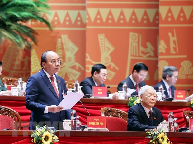 Congress discusses draft documents on Party building, national development hinh anh 1