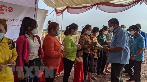 Work begins on communal house for Vietnamese-Cambodians in Kampot hinh anh 2