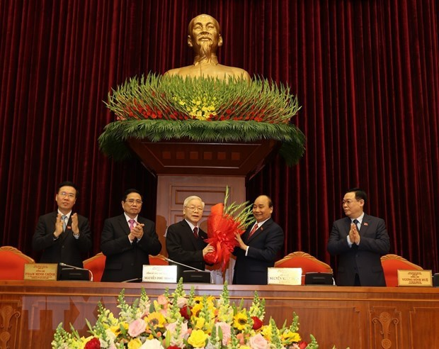 Nguyen Phu Trong re-elected as Party General Secretary hinh anh 1