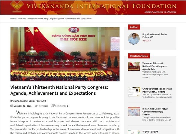 Indian researcher highlights Vietnam's achievement under Party leadership hinh anh 1