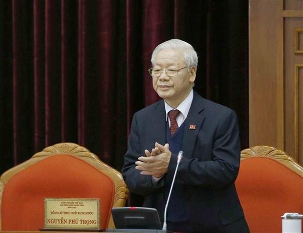 Cambodia congratulates Party chief on re-election hinh anh 1