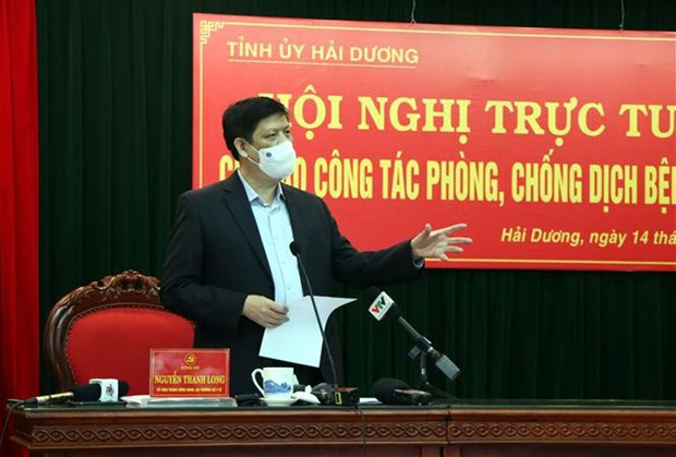 Hai Duong urged to implement COVID-19 combat measures on wider scale hinh anh 1