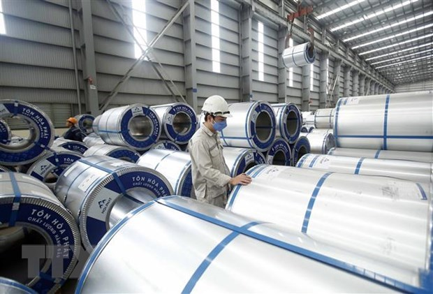 Hoa Phat Group exports 22,000 tonnes of galvanised steel sheets in Jan-Feb hinh anh 1