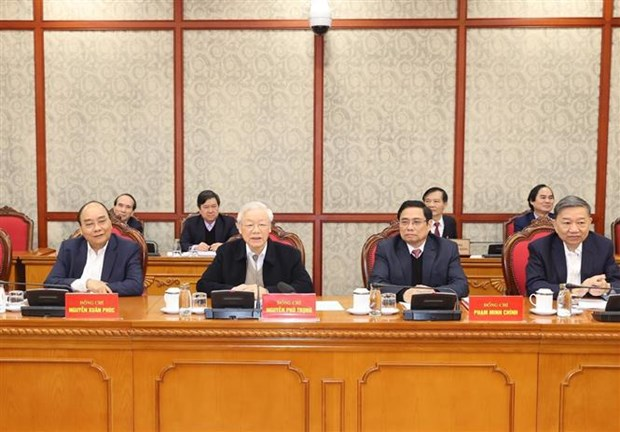 Politburo, Secretariat of Party Central Committee hold first session hinh anh 2