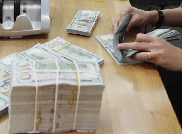 Reference exchange rate up 10 VND on February 18 hinh anh 1