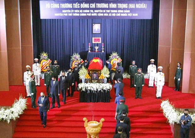 Ceremony held to pay last respects to former Deputy PM Truong Vinh Trong hinh anh 1