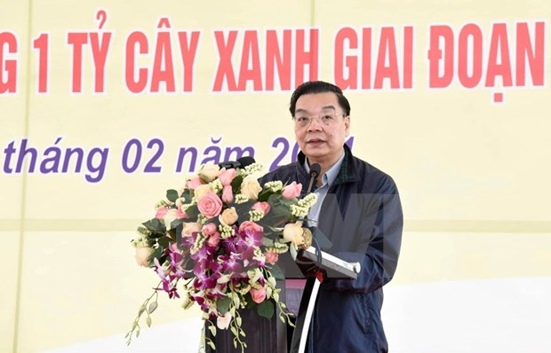 Hanoi launches tree-planting festival on New Year of Bufallo hinh anh 2