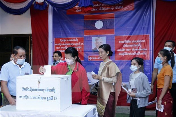 Laos: 4.3 million people cast votes on general election hinh anh 1