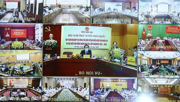 Training teleconference for NA election held nationwide hinh anh 1