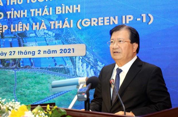 Deputy PM asks Thai Binh to facilitate Lien Ha Thai IP development hinh anh 1