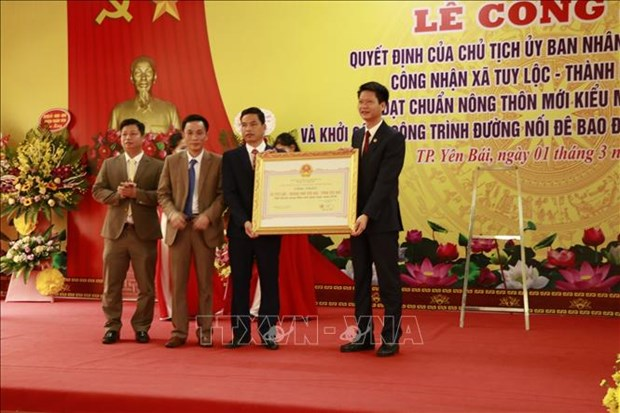 Yen Bai has first model new-style rural commune hinh anh 1