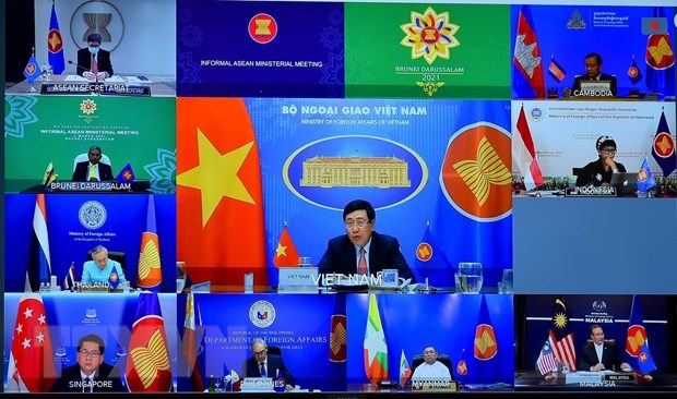 Informal ASEAN Ministerial Meeting issues Chair's Statement hinh anh 1