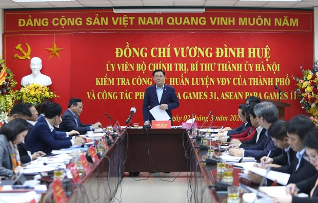 Hanoi leader inspects works for SEA Games 31, ASEAN Para Games 11 hinh anh 1