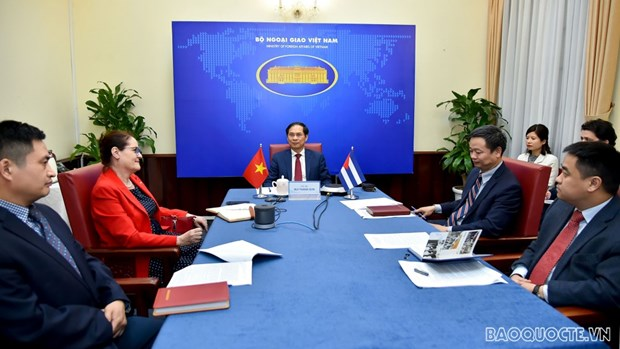 Vietnamese, Cuban deputy foreign ministers hold political consultation hinh anh 2