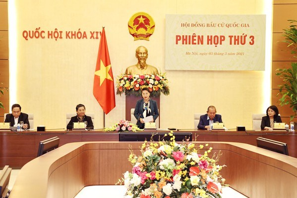 Top legislator chairs National Election Council's third meeting hinh anh 1