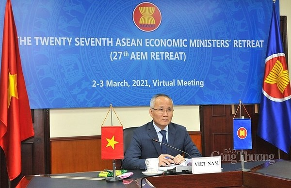 27th ASEAN Economic Ministers' Retreat adopts 10 initiatives, priorities hinh anh 1
