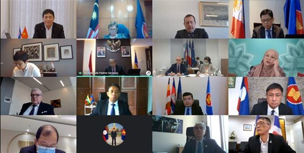 First ASEAN-France DPC meeting held virtually hinh anh 1